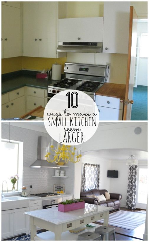 Decor Hacks 10 Ways To Make A Small Kitchen Seem Larger At Tatertots And Jello Decors Ideas