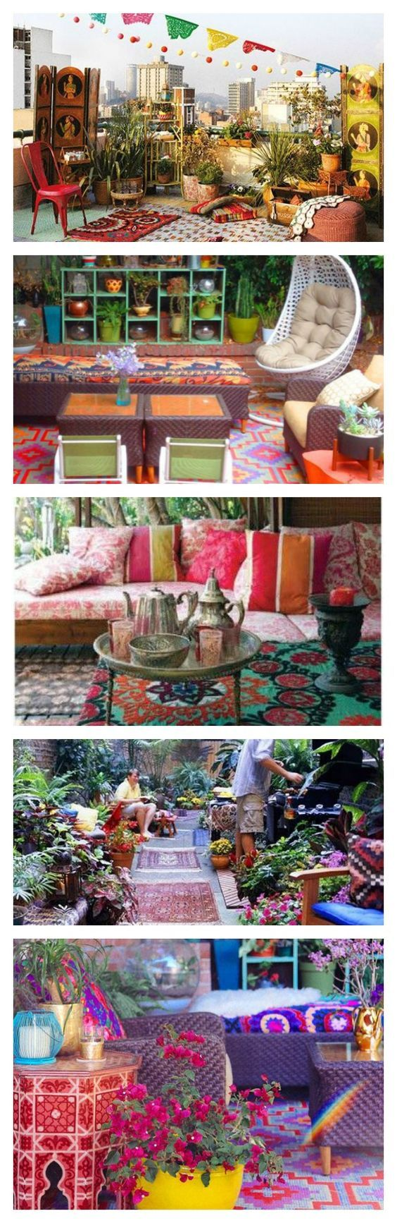 decor hacks colorful bohemian outdoor spaces how to